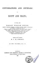 Conversations And Journals In Egypt And Malta