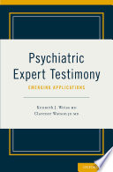 Psychiatric Expert Testimony Emerging Applications Book PDF