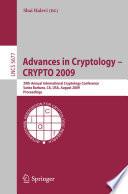 Advances In Cryptology Crypto 2009