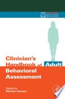 Clinician S Handbook Of Adult Behavioral Assessment