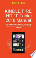 Kindle Fire HD 10 Tablet 2018 Manual