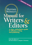 Merriam-Webster's Manual for Writers and Editors [Pdf/ePub] eBook