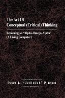 The Art of Conceptual (Critical) Thinking Pdf/ePub eBook