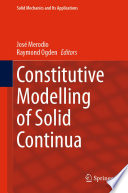 Constitutive Modelling of Solid Continua Book