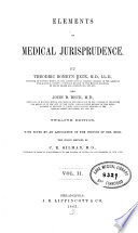 Elements of medical jurisprudence v  2  1863 Book PDF