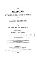 The seasons, hymns, ode, and songs