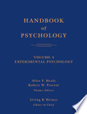 Handbook Of Psychology Experimental Psychology Book PDF