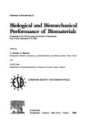 Biological and Biomechanical Performance of Biomaterials