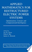 Applied Mathematics for Restructured Electric Power Systems Book