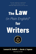 The Law  in Plain English  for Writers  Fifth Edition