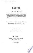 Lettre à M. C.-N. A****** sur un ouvrage intitulé Les poètes français depuis le XIIe siècle jusq'à Malherbe, avec une notice historique et littéraire sur chaque poète