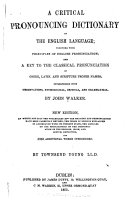 A Critical Pronouncing Dictionary of the English Language