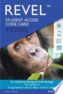 Revel for Exploring Biological Anthropology: The Essentials -- Access Card