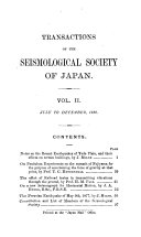 Transactions of the Seismological Society of Japan