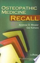 Osteopathic Medicine Recall