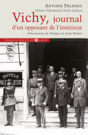 Pdf Vichy, journal d'un opposant de l'intérieur Telecharger