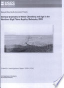 Vertical Gradients In Water Chemistry And Age In The Northern High Plains Aquifer Nebraska 2003 Book PDF