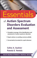 Essentials Of Autism Spectrum Disorders Evaluation And Assessment Book PDF