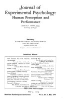 Journal of experimental psychology   human perception and performance