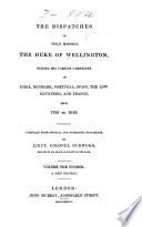 The Dispatches of Field Marshal the Duke of Wellington, K.G.: Peninsula, 1809-1813 Pdf/ePub eBook