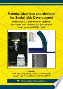 Material  Machines and Methods for Sustainable Development