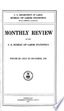 Monthly labor review. v. 3, 1916