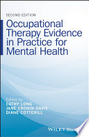 Occupational Therapy Evidence in Practice for Mental Health Book