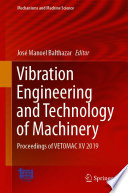 Vibration Engineering and Technology of Machinery