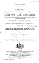 Returns of Accidents and Casualties