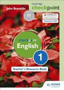 Books - Checkpoint English Trb 1 Rev   ISBN 9781444143898
