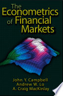 The Econometrics of Financial Markets Book