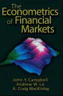 The Econometrics of Financial Markets