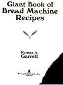Pdf Giant Book of Bread Machine Recipes
