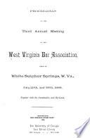 Report of the West Virginia Bar Association Book PDF