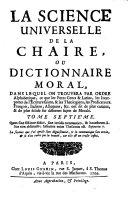 La science universelle de la chaire ou Dictionnaire moral