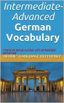 Intermediate Advanced German Vocabulary