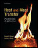 Package  Heat and Mass Transfer  Fundamentals   Applications with 1 Semester Connect Access Card
