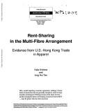 Rent-Sharing in the Multi-Fibre Arrangement [Pdf/ePub] eBook
