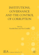 Institutions, Governance and the Control of Corruption [Pdf/ePub] eBook