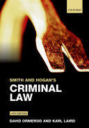Smith and Hogan s Criminal Law