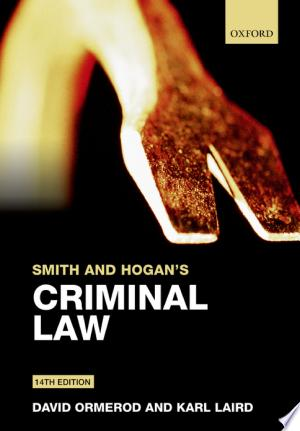 Download Smith and Hogan's Criminal Law Free Books - Reading Best Books For Free 2018