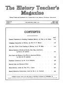 History Teacher s Magazine