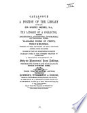 Auction catalogue, books of Robert Smirke, 28 to 29 May 1868