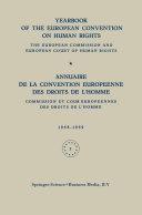 Pdf Yearbook of the European Convention on Human Rights / Annuaire de la Convention Europeenne des Droits de L'Homme Telecharger