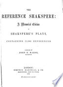 The Reference Shakspere