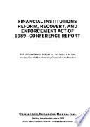 Financial Institutions Reform Recovery And Enforcement Act Of 1989 Conference Report