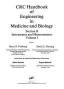 CRC Handbook of Engineering in Medicine and Biology