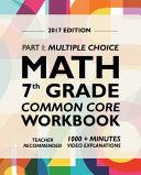 Argo Brothers Math Workbook, Grade 7: Common Core Math Multiple ...