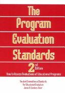Pdf The Program Evaluation Standards