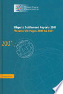 Dispute Settlement Reports 2001 Volume 7 Pages 2699 3301